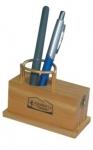 Portalápiz y sacapuntas de madera (00961)